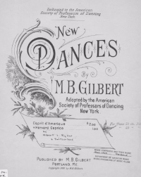 1896 Havard Caprice Sheet Music Cover