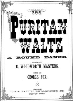 Puritan Waltz Sheet Music Cover