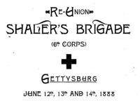 Shaler's Brigade Reunion title page