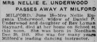 Obituary - Boston Sunday Globe June 19 1921 p7